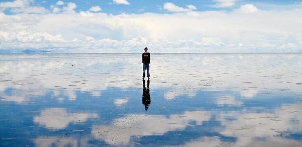 """As chuvas formam um espelho d""""água fantástico no Salar do Uyuni - Ezequiel Cabrera/Creative Commons"""