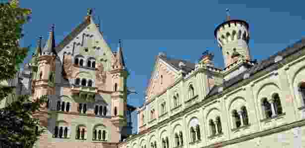 O castelo bávaro visto desde um de seus pátios - Getty Images