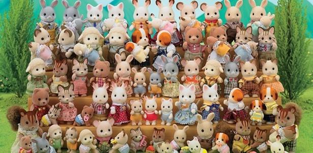 "Bonecos da marca ""Sylvanian Families"", da japonesa Epoch Co."