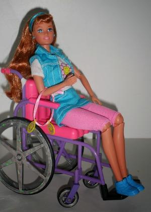 A boneca Becky, que é amiga da Barbie