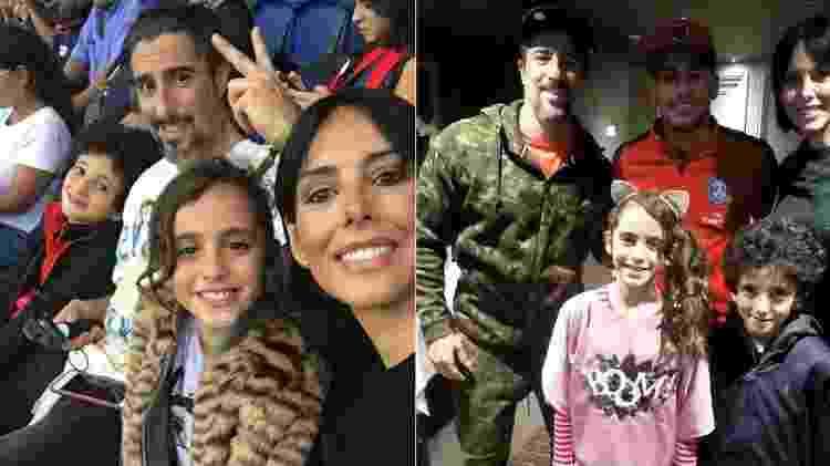 Marcos Mion e família assistem a jogo de Neymar e depois tietam craque - Reprodução/Instagram - Reprodução/Instagram