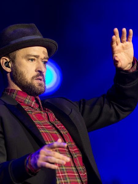 O cantor Justin Timberlake se apresenta fechando a noite do terceiro dia do Rock in Rio 2017 - Ricardo Borges/Folhapress