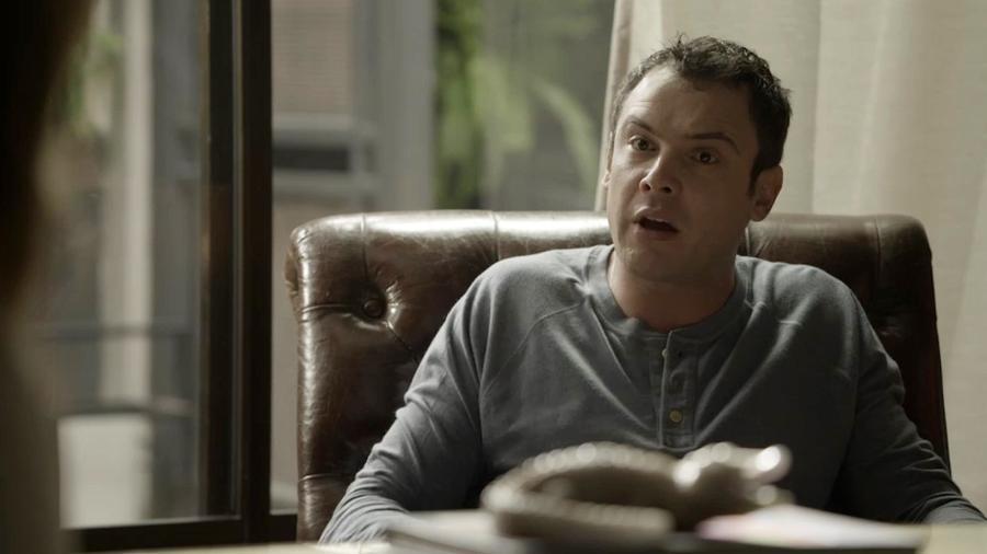 """Gael (Sergio Guizé) enfrenta a mãe em """"O Outro Lado do Paraíso"""" - Reprodução/GShow"""