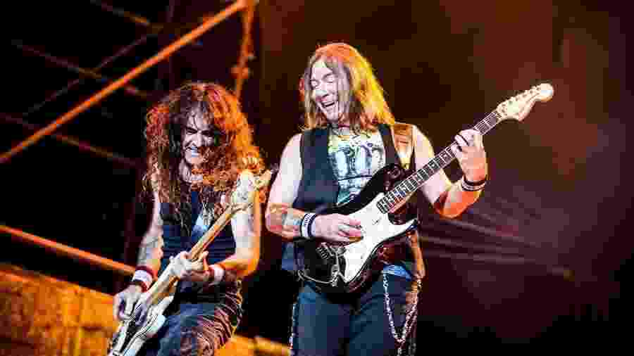 Dave Murray e Steve Harris em show do Iron Maiden - Lucas Lima/UOL