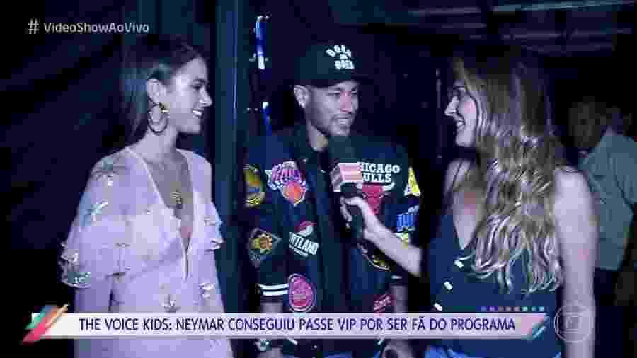 """Neymar e Bruna Marquezine dão primeira entrevista juntos para o """"Vídeo Show"""" - Reprodução/TV Globo"""