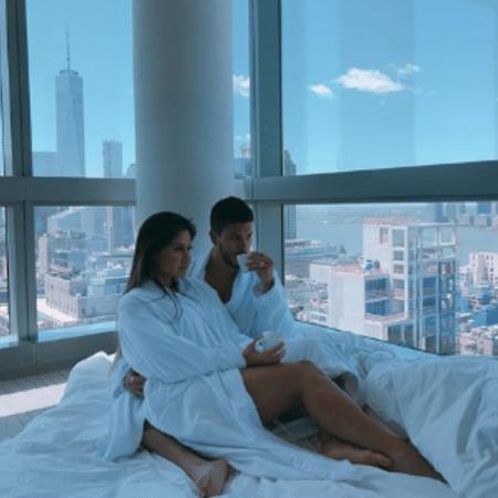 Arthur Aguiar e Mayra Cardi em Nova York - Reprodução/Instagram