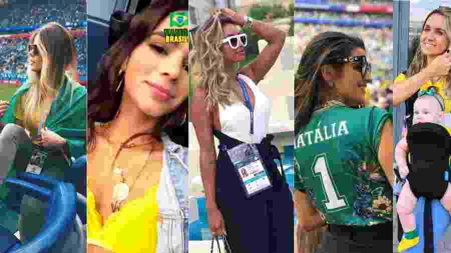 Grife e camisa oficial compõem visual das mulheres dos jogadores do Brasil 5bea31cf7feca