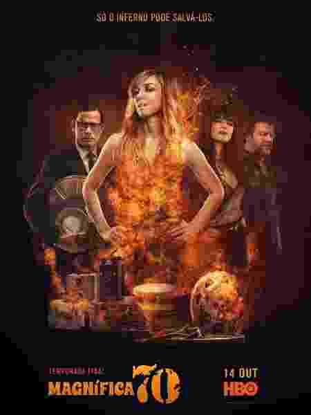 """Cartaz da última temporada de """"Magnífica 70"""", da HBO - Divulgação"""