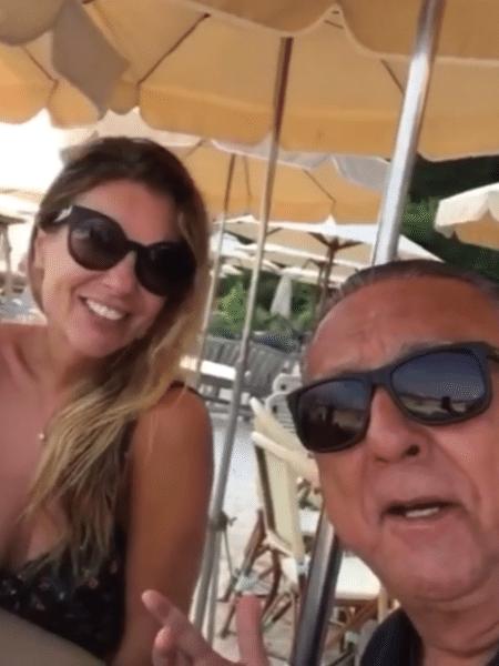 Galvão Bueno com a mulher, Desirée Soares - Reprodução/Instagram