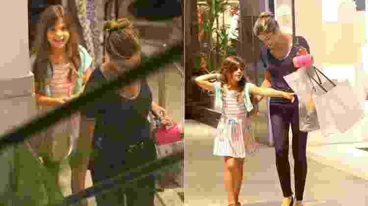 Grazi e Sofia passeiam em shopping no Rio e menina sorri ao ver o paparazzo - Agnews - Agnews