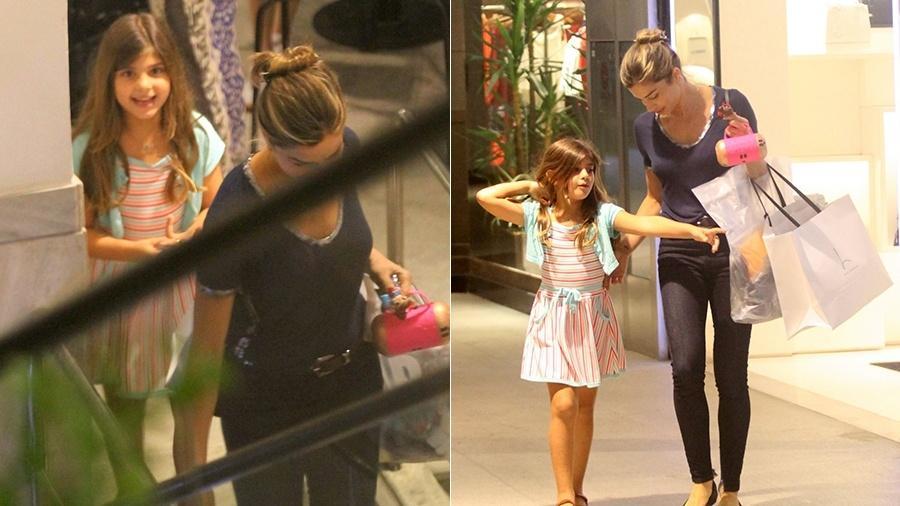 Grazi e Sofia passeiam em shopping no Rio - Daniel Delmiro/AgNews