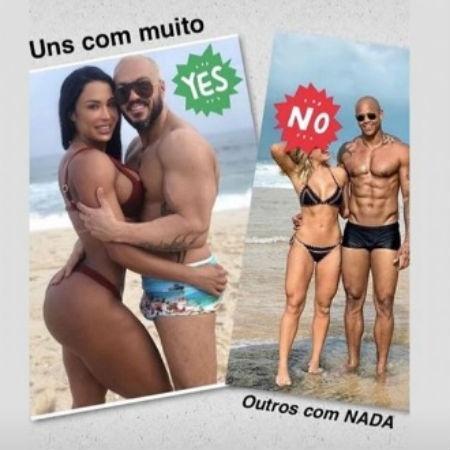 Mulher do cantor Belo divulga zoeira entre o pagodeiro e Léo Santana - Reprodução/Instagram