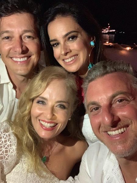 Rodrigo Faro com a mulher, Vera Viel, e o casal Angélica e Huck - Reprodução / Instagram