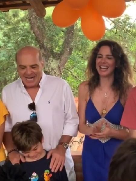 Lu Gimenez e Marcelo de Carvalho passam aniversário do caçula juntos - Reprodução/Instagram