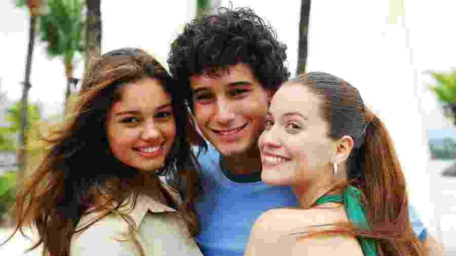 Sophie Charlotte, Rafael Almeida e Nathalia Dill em Malhação - João Miguel Júnior/TV Globo
