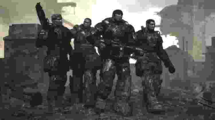 Marcus Fenix e o Esquadrão Delta inauguraram a série Gears em 2006 - Divulgação