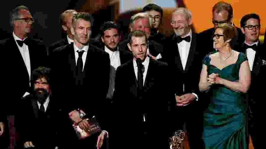 """Elenco de """"Game of Thrones"""" recebe o prêmio de Melhor Série no Emmy - Kevin Winter/Getty Images/AFP"""