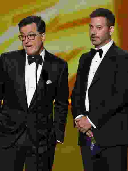 Stephen Colbert e Jimmy Kimmel  - Kevin Winter/Getty Images - Kevin Winter/Getty Images