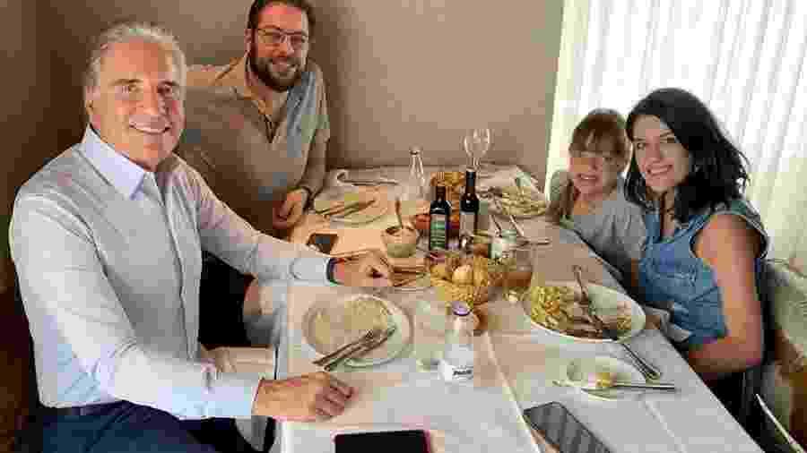 Roberto Justus com os filhos Ricardo, Luiza e Rafaella - Reprodução/Instagram