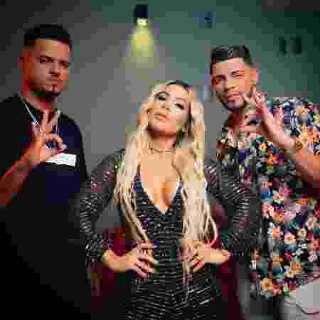 """Thiaguinho MT, Mila e JS O Mão de Ouro, do hit """"Tudo Ok"""" - Reprodução/Instagram"""