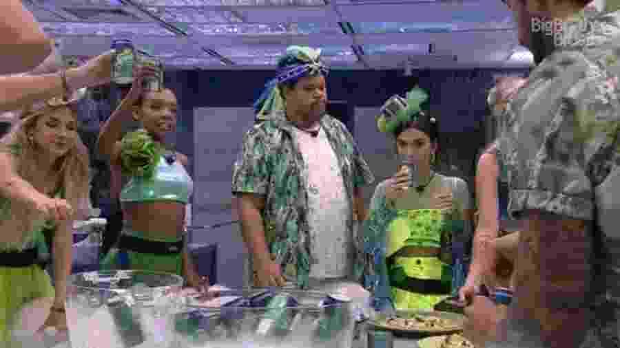 Brothers no esquenta de carnaval -  Reprodução/Globoplay