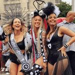 Paolla Oliveira com Leandra Leal e Emanuelle Araujo no Cordão da Bola Preta, no Rio - Reprodução/Instagram