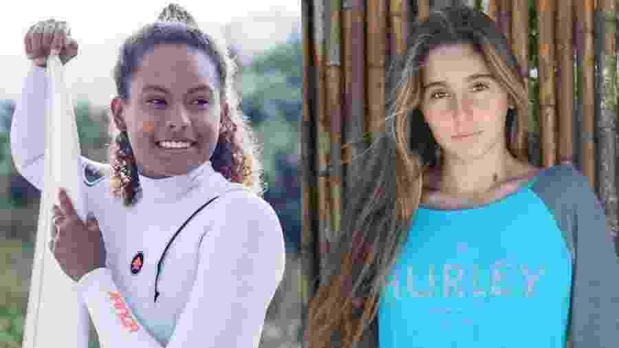 As surfistas Yanca Costa e Isabela Saldanha - Arquivo pessoal