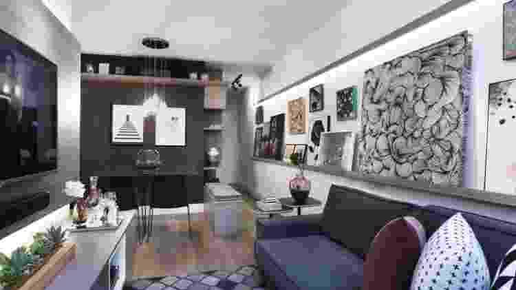 Não é preciso se limitar a padrões e formatos repetitivos. A gallery wall permite unir diferentes telas, com tamanhos livres. No fim, o resultado é bonito do mesmo jeito - Urban Arts - Urban Arts