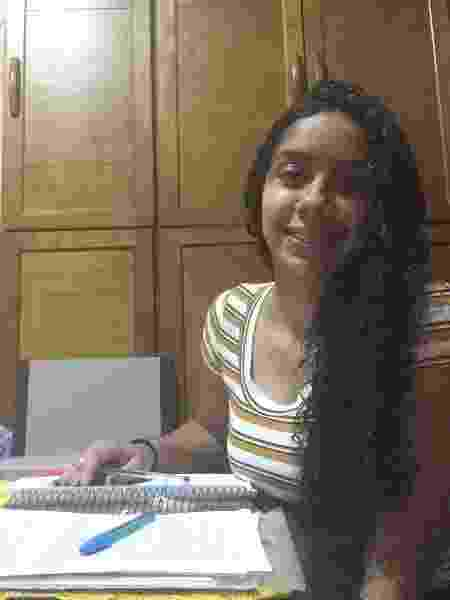 Vitória Aparecida mora com a mãe e quatro irmãos em uma ocupação em São Paulo. - Arquivo pessoal