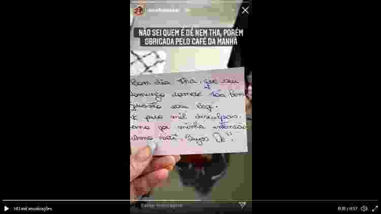 Bilhete endereçado à vizinha da youtuber Dora Figueiredo - Reprodução/Instagram - Reprodução/Instagram