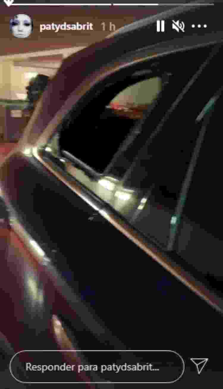 Vidro quebrado carro Patricia de Sabrit - Reprodução/Instagram - Reprodução/Instagram
