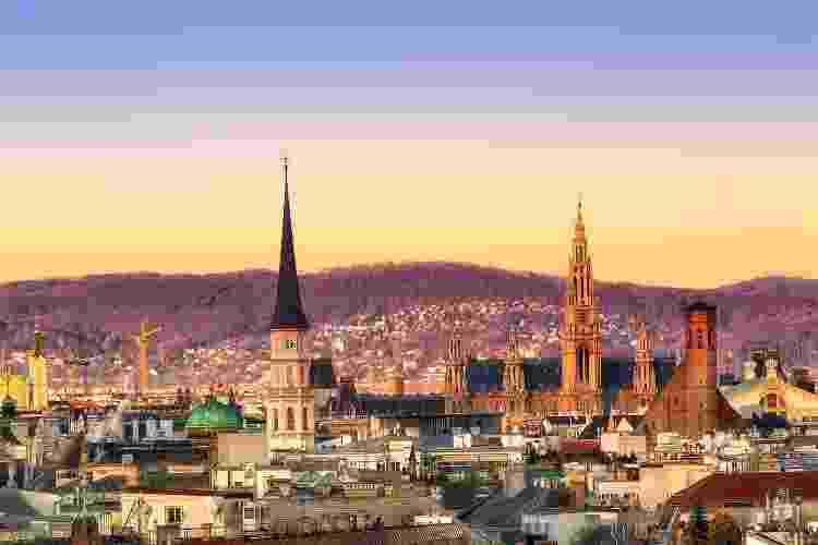 Viena (capital da Áustria) anteriormente considerada a cidade mais bonita entre 2018 e 2020, caiu para o 12º lugar - iStockphoto - iStockphoto