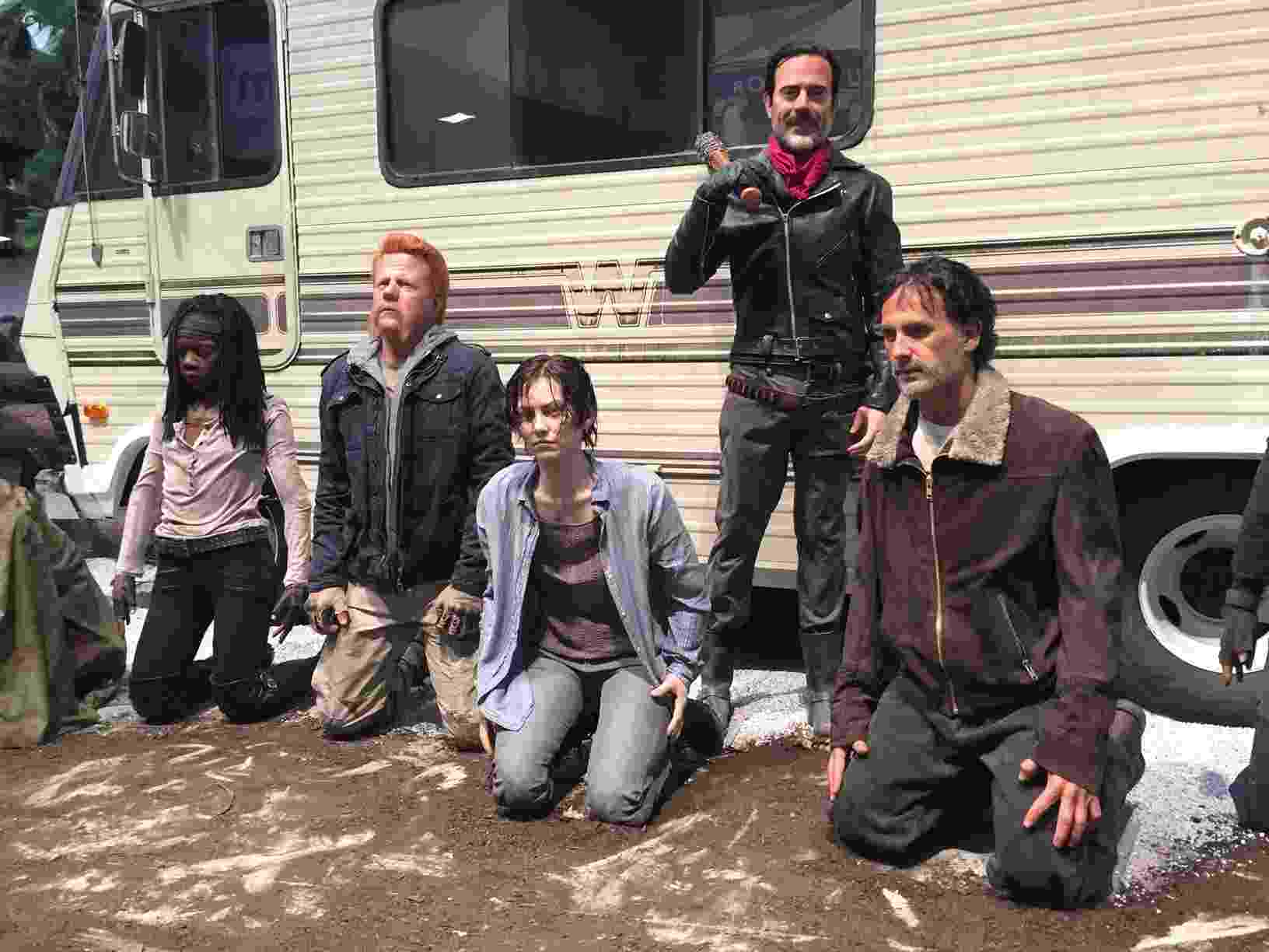 21.jul.2016 - Bonecos de cera da série Walking Dead, na San Diego Comic-Con 2016 - Felipe Branco Cruz/UOL