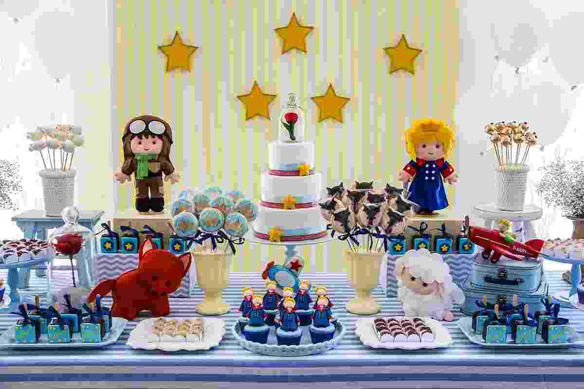 festa pequeno príncipe mesa principal - Jane Torres Photography/Divulgação