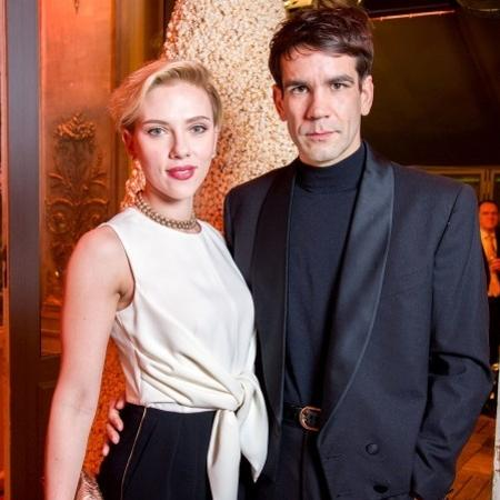 Scarlett Johansson em última aparição pública com o marido, Romain Dauriac, em dezembro de 2016 - Getty Images