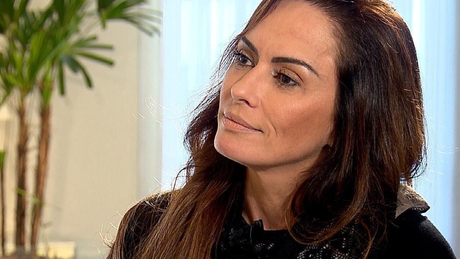 """Núbia Óliiver comemora superação do vício em sexo em entrevista para o programa """"Câmera Record"""" - Divulgação/Record"""