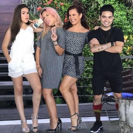 """Fernanda Souza grava seu programa no Multishow com ex-apresentadores do """"Bom Dia & Cia"""" - Reprodução/Instagram/fernandasouzaoficial"""