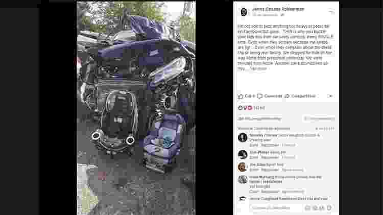 Post de Jenna sobre o acidente que sofreu com os filhos - Reprodução/Facebook - Reprodução/Facebook