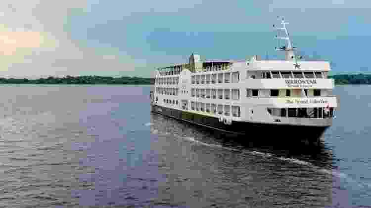 Navio Grand Amazon na Amazônia - Divulgação/Qualitours - Divulgação/Qualitours