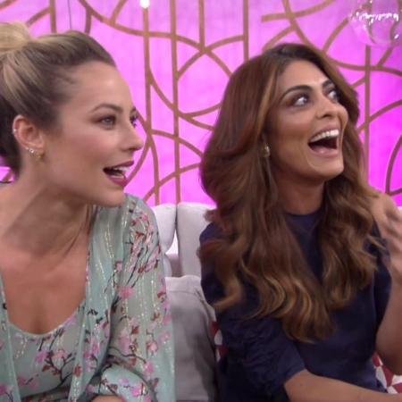 """Paolla Oliveira e Juliana Paes no """"Encontro com Fátima Bernardes"""" - Reprodução/Globo"""