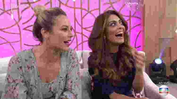 """Paolla Oliveira e Juliana Paes no """"Encontro com Fátima Bernardes"""" - Reprodução/Globo - Reprodução/Globo"""