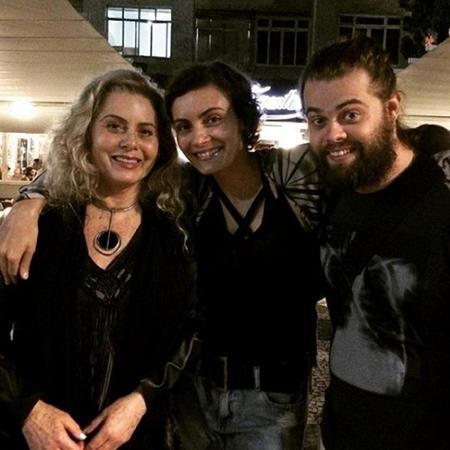 Vera Fischer e os filhos, Rafaela e Gabriel - Reprodução/Instagram