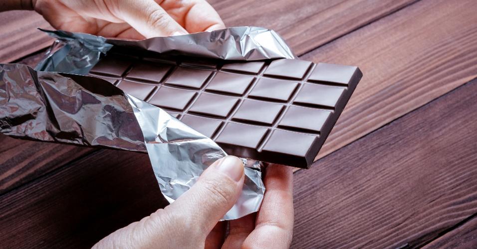 Chocolate em barra, guloseima