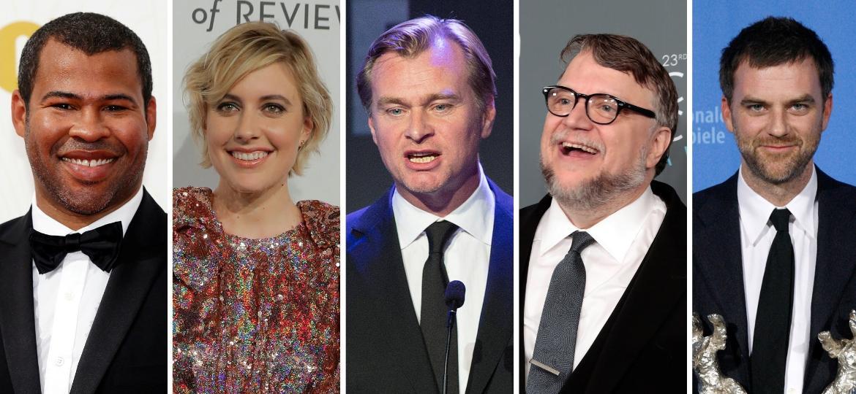 Jordan Peele, Greta Gerwig, Christopher Nolan, Guillermo del Toro and Paul Thomas Anderson, diretores indicados ao Oscar de 2018 - Reuters