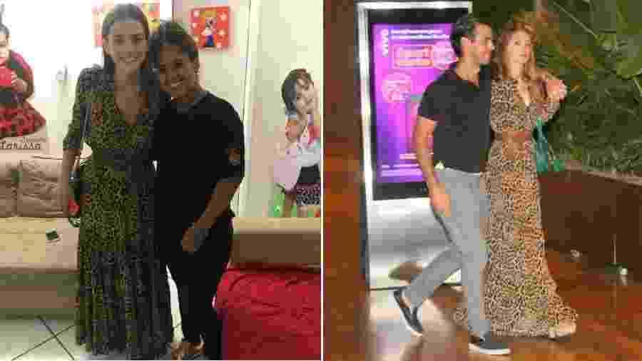 Bruna Marquezine e Marina Ruy Barbosa usam o mesmo vestido - Reprodução/Instagram//Agnews