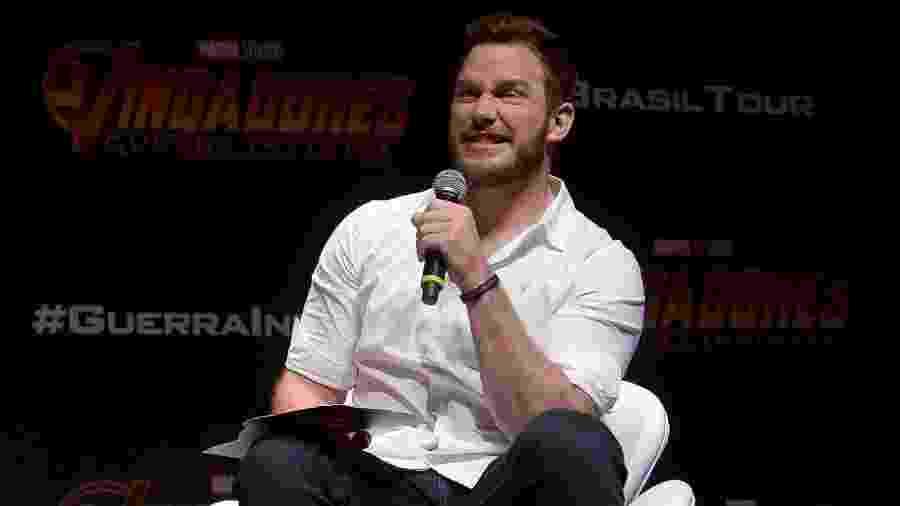 """O ator americano Chris Pratt, que está no Brasil para divulgar o novo """"Vingadores: Guerra Infinita"""" - Francisco Cepeda/AgNews"""