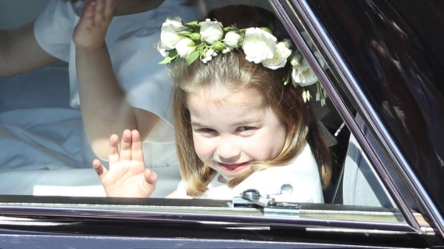 Charlotte chega ao casamento de Meghan e Harry - Andrew Milligan - WPA/Getty Images
