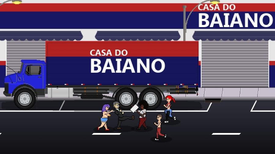 """Em """"Bolsomito 2K18"""", candidato a presidente espanca e mata opositores - Divulgação/BS Studios"""