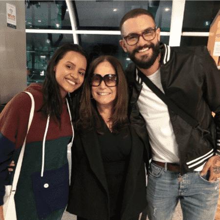Gleici Damasceno, Susana Vieira e Wagner Santiago - Reprodução/Instagram