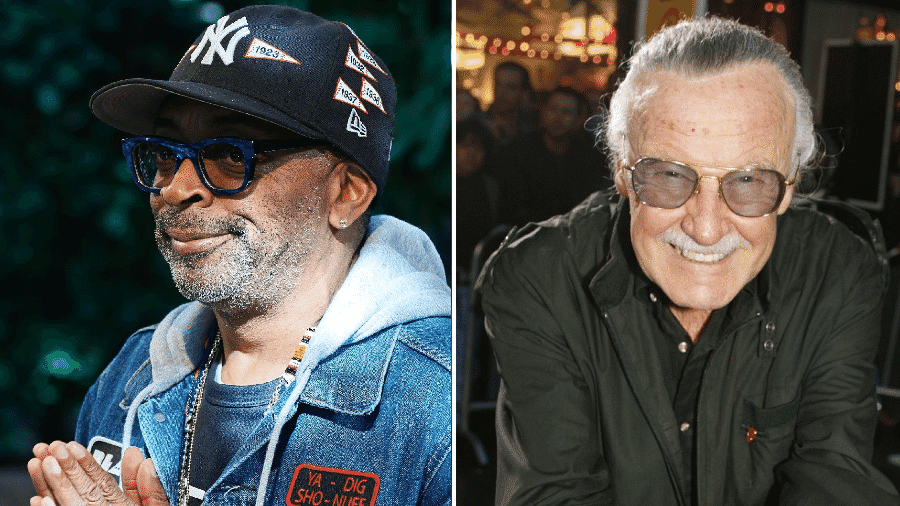 O diretor Spike Lee e o quadrinista Stan Lee - Getty Images/Kevin Winter/Getty Images/Montagem